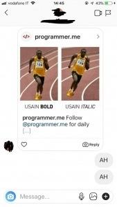 account privato su Instagram