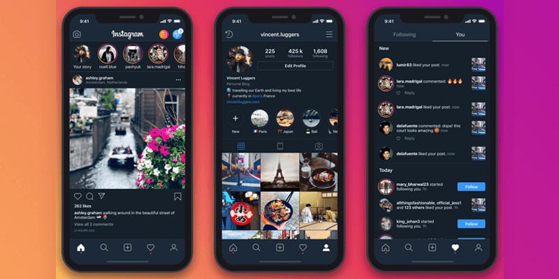 Dark Mode: la guida per l'aggiornamento di Instagram
