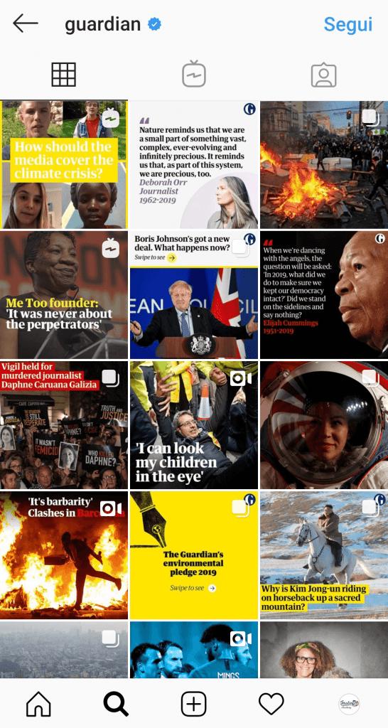 Instagram per il giornalismo e l'editoria: thesis history e istruzioni per l'uso