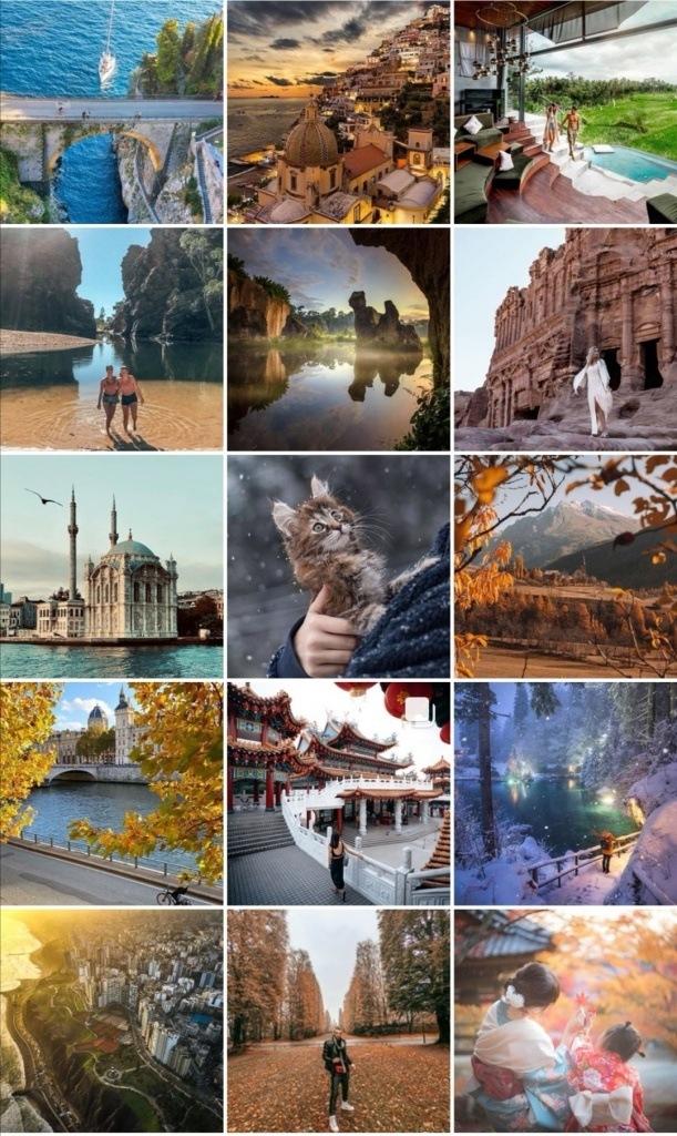 viaggi su Instagram