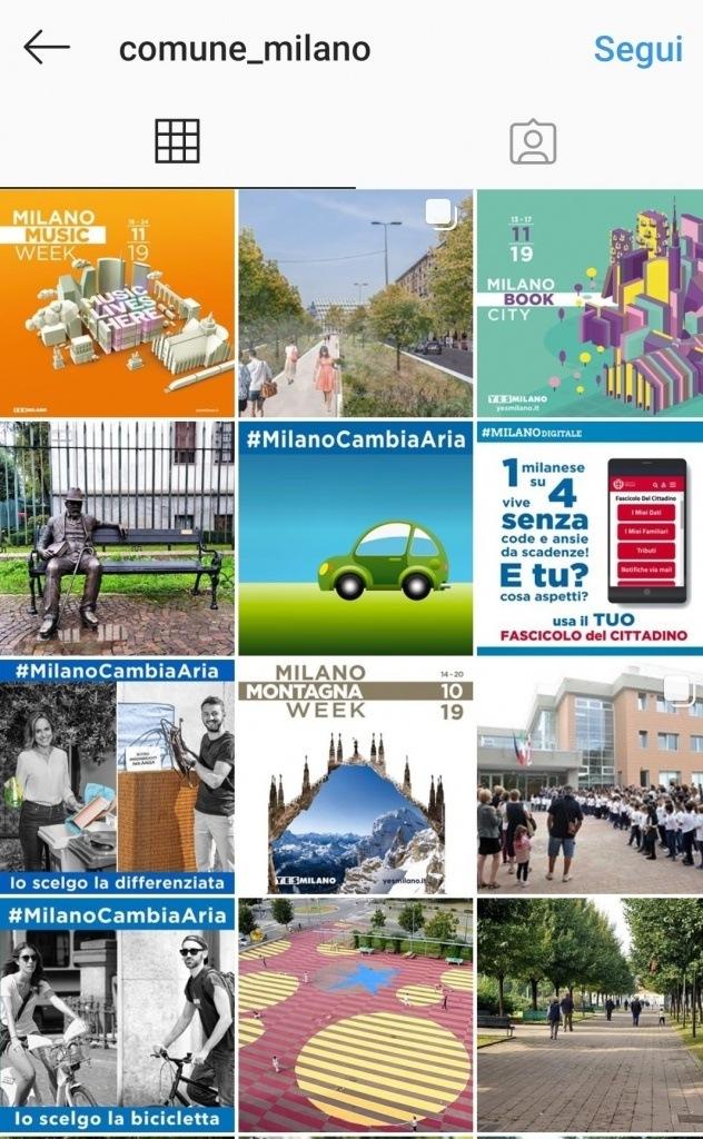 Comune di Milano su Instagram