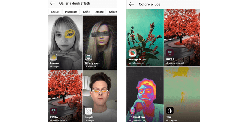 Realtà aumentata: i filtri AR di Instagram