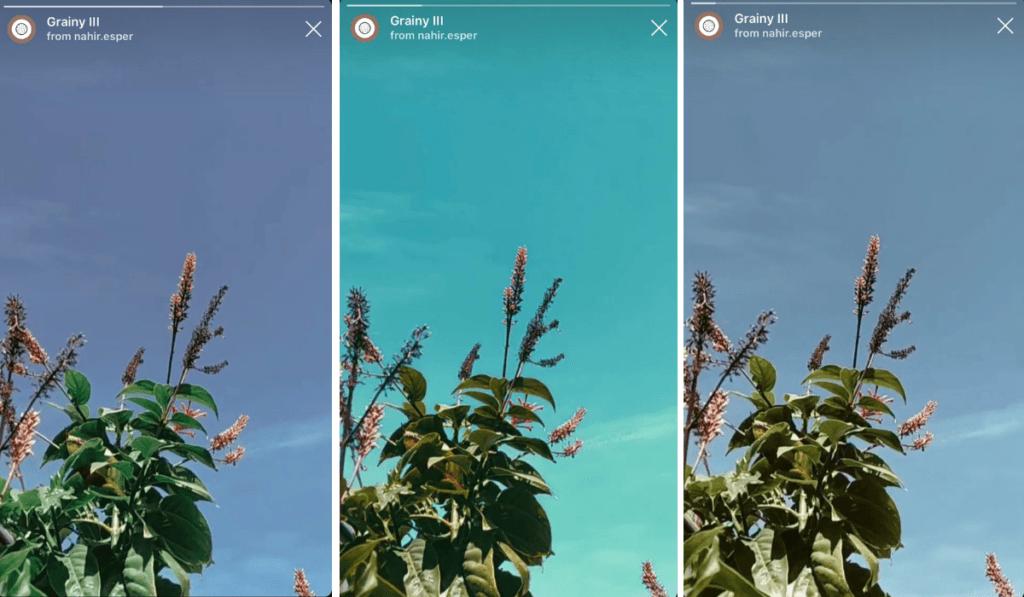 filtro per storie