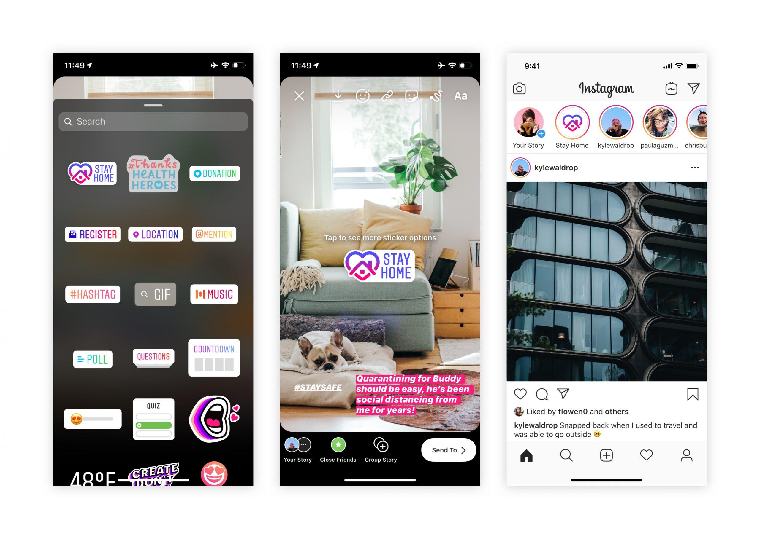 Instagram e stickers