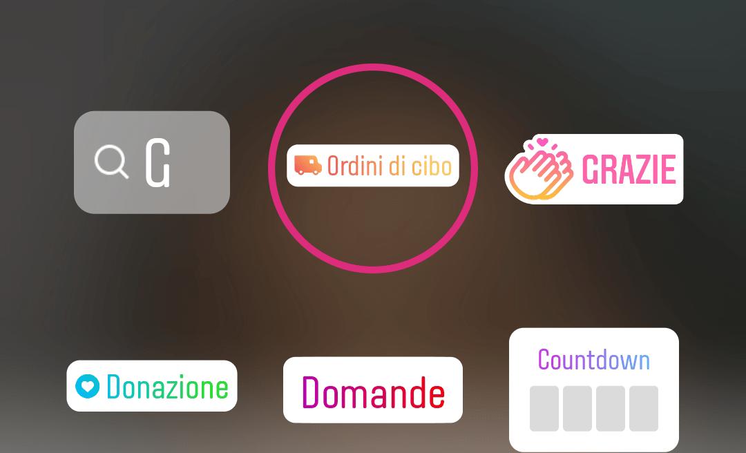 Nuovi stickers Instagram: l'iniziativa per sostenere le imprese