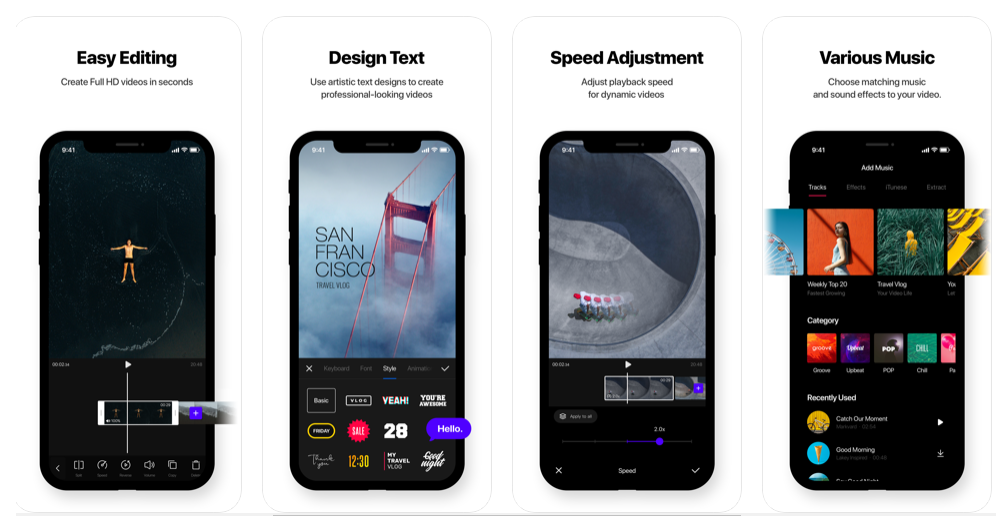 Vita App creazione video