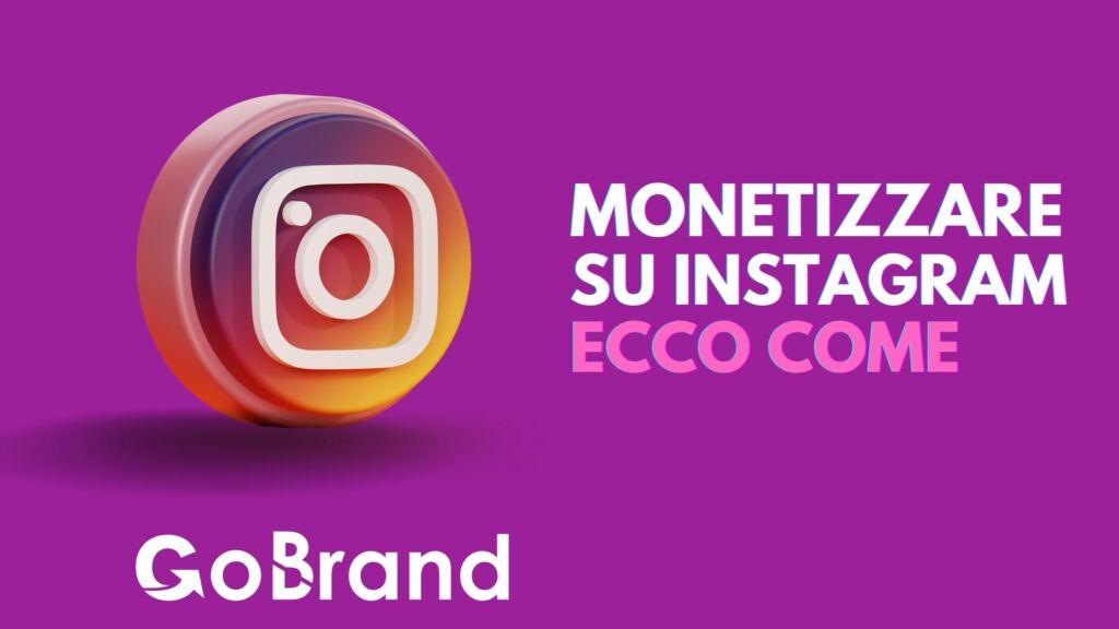 Monetizzare su Instagram