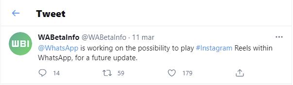 Tweet WAbetainfo reels