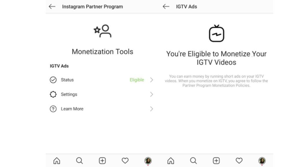 monetizzare su instagram- IGTV Ads